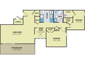 Park Meadows Apartments 2 Bedroom Floor Plan